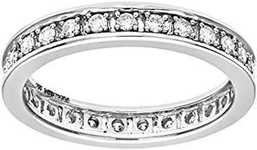 Naava 18ct White Gold Half Carat Diamond Full Eternity Ring