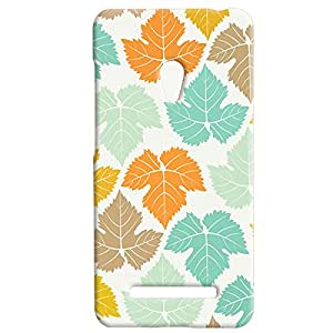 Theskinmantra Leafed Color back cover of Asus Zenfone 5