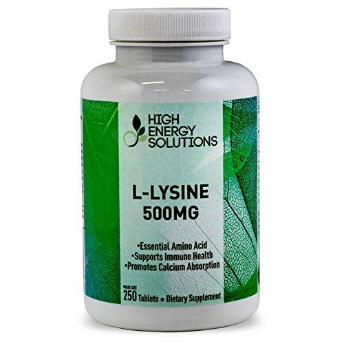 L-Lysine-Supplement-500mg-Value-Sized-250-Tablets-Formulated-and-Produced-By-High-Energy-Solutions-GMP-USA-100-Guarantee