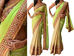 Gokul Vastra Saree (Pack of 6) (P-KT-3058_6_Green Cream)