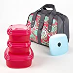 Mesa Insulated Bag Kit with Matching Fresh Selects Set (Magenta Paisley)