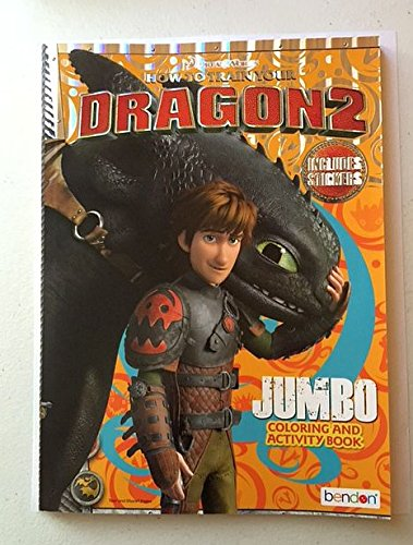 How To Train Your Dragon2 Jumbo Coloring and Activity Book with Stickers