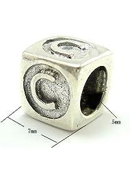 925 Sterling Silver Letter 'C' Charm for Pandora Bracelets