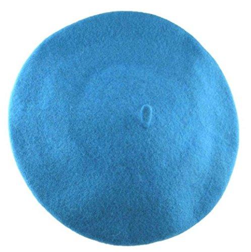 Angel /& William Classic Wool Beret Cap Hat 11 Aqua Turquoise Blue