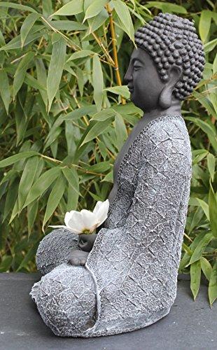 Billig steinfigur buddha sitzend steinguss schwarz for Dekoartikel billig