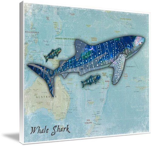 Wooden Whale Wall Art front-1058815