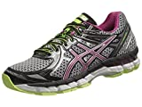 ASICS Womens GT 2000 2 Running Shoe,Black/Orchid/Flash Yellow,9.5 D US