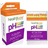 HealthyWiser® Ph Test Strips + BONUS Alkaline Food Chart PDF + 21 Alkaline Recipes eBook - Accurate Results in 15 Seconds, Monitor Your Ph Daily, 100ct