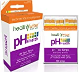 HealthyWiser® pH Test Strips 100ct + BONUS Alkaline Food chart PDF +21 Alkaline Recipes Ebook (Sent Via EMAIL After Purchase) Quick and Accurate Results in 15 seconds Stay Healthy, Check Your pH Daily