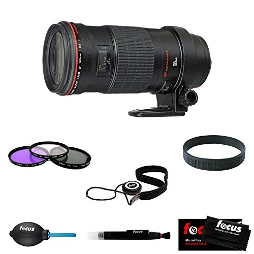 Canon Ef 180Mm F3.5L Macro Usm Autofocus Telephoto Lens With Deluxe Accessory Kit