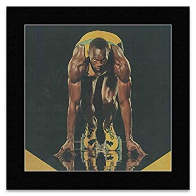 USAIN BOLT - Starting Blocks Matted Mini Poster - 28.5x29cm