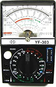 Multímetro analógico que permite comprobar ACV, DCV, DCA, resistencia y con salida AF (dB). Dispone de un visor con una escala analógica de fácil visualización.