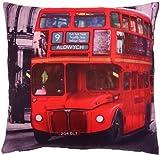 SUPERB RED LONDON HYDE PARK TRAFALGAR BIG BUS CUSHION COVER 17