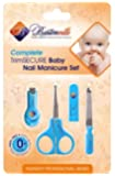#1 Baby Nail Clippers Set with Scissors, File and Safe Grooming Tips: Complete Solution Fits Any Child, Newborn or Infant Nails. Great Bath Care & Shower Gift Kit. 365 Days Money Back Guarantee