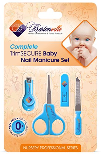 #1 Baby Nail Clippers Set with Scissors, File and Safety Grooming Tips: Complete Solution for Any Child Age, Newborn or Infant. Deluxe Nursery Bath Care & Shower Gift Kit, 5 Years Money Back Guarantee