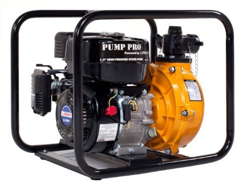 Lifan Pump Pro Lf1.5Hwp-Ca -1-1/2-Inch High Pressure Commercial Water Pump With 6.5 Hp 196Cc 4-Stroke Ohv Gasoline Engine (Carb Certified)