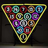15 Ball Rack Billiards Neon Sign (multicolor) (22