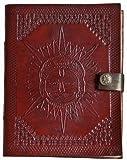 Carnet de notes de luxe indiary en cuir de buffle et papier puisé à la main - Portrait Of Sun...