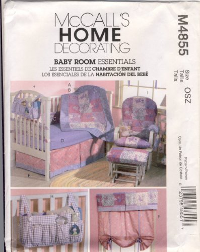 Mccall Home Decorating Sewing Pattern 4855 - Use To Make - Baby Room Essentials front-261612