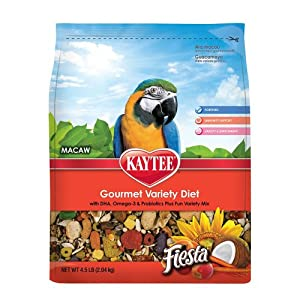 Kaytee Fiesta Fortified Food for Macaws, 25-Pound