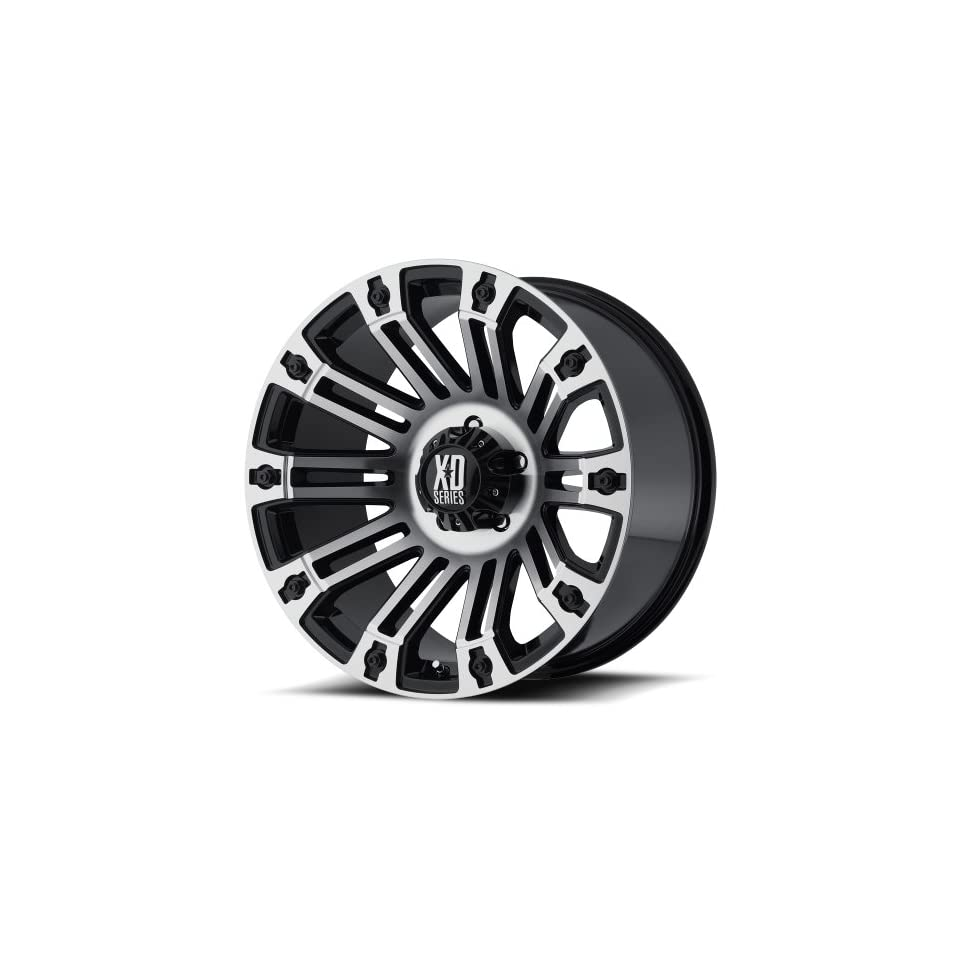 XD XD810 20 Machined Black Wheel / Rim 5x5 with a  24mm Offset and a 78.3 Hub Bore. Partnumber XD81021050324N Automotive