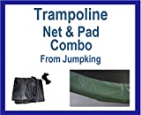 Net And Pad Combo For 14 Ft Round Frames With 4 Poles Or 2 Arches-YJNYJP-IS-14-4
