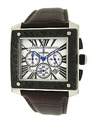 Le Chateau Men's 5423M_WHT Sports Dinamica Quadra LC Collection Gun-metal Watch