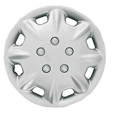 CCI IWCB8094-14S 14 Inch Clip On Silver Finish Hubcaps - Pack of 4