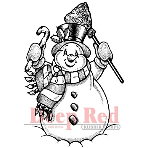 Deep Red Stamps Frosty The Snowman Rubber Stamp