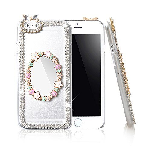 Ic Iclover 3D Mirror Crystal Bling Diamond Clear Hard Case Cover For 4.7'' Apple Iphone 6