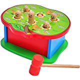 Vidatoy Classic Wooden Whac-a-mole Box With A Hammer For Children