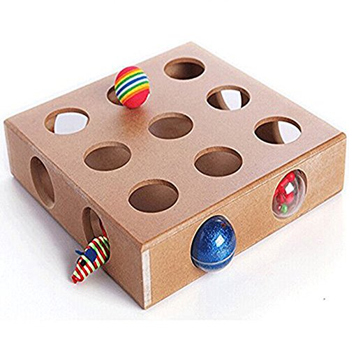 Blize Pet LWT-0701 Best Cat Toy Ever! Interactive Treat Maze & Puzzle Game Peek-A-Prize Toy Box for Cats