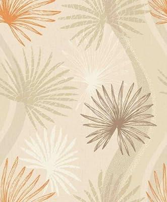 Arthouse Vintage Novara Floral Cream Orange Luxury Weight Wallpaper