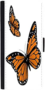 Snoogg Monarch Butterfly Graphic Snap On Hard Back Leather + Pc Flip Cover Mo...