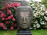 Ornate stone Large Buddha Head ornament