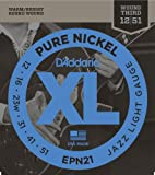 D'Addario EPN21 XL Pure Nickel Jazz Light (.012-.051) Electric Guitar Strings