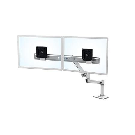 "Ergotron LX Series Desk Dual Direct Arm 25"" Freestanding White - flat panel desk mounts (Freestanding, 9.9 kg, 63.5 cm (25""), 100 x 100 mm, Height adjustment, White)"