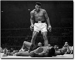 Boxer Muhammad Ali Knocks Out Sonny Liston 11x14 Silver Halide Photo Print