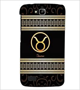 PrintDhaba Zodiac Taurus D-2609 Back Case Cover for HUAWEI HONOR HOLLY (Multi-Coloured)
