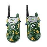 2pcs Juguete de Camuflaje Walkie Talkie de Radio Control Plástico de dos Vías Luz Niños - Camuflaje Oscuro