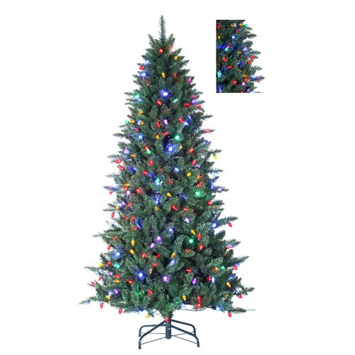 7 5 columbus pine 8 function artificial christmas tree w remote multi c7 led 5ive dollar. Black Bedroom Furniture Sets. Home Design Ideas