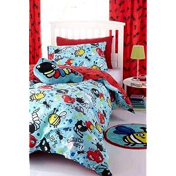 pas cher parure de lit enfant housse de couette 140x200 taie insectes abeilles chenilles. Black Bedroom Furniture Sets. Home Design Ideas