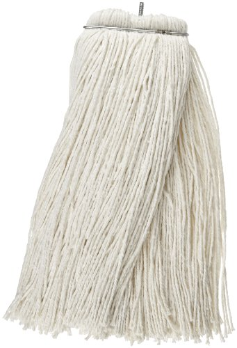 Impact 61124 Layflat Screw-Type Regular Cut-End Rayon Wet Mop Head, 24 oz, White (Case of 12) (24oz Rayon Wet Mops compare prices)
