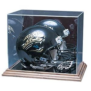 Philadelphia Eagles NFL Full Size Football Helmet Display Case (Wood Base) by Caseworks