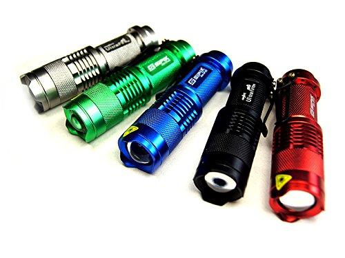Mini Lampe de Poche 700 Lumens Zoomable Led Cree 5 couleurs au choix