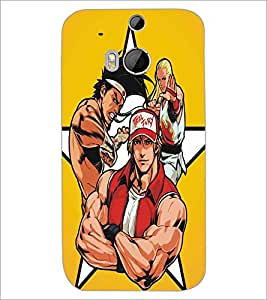 HTC ONE M8 FIGHTERS Designer Back Cover Case By PRINTSWAG