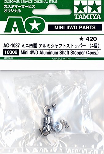 Tamiya Ao-1037 Mini 4wd Aluminum Shaft Stopper (4 Pcs) (10308)