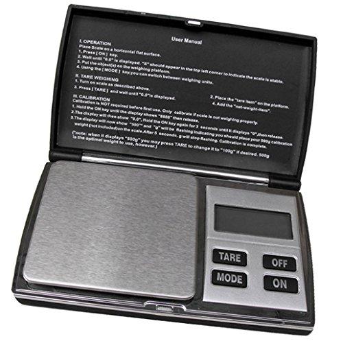 Weiheng WH-DS08B 200g/0.01g Mini Balance de bijoux - Balance de haute précision Numérique Portable - Idéale pour peser de l'or, l'argent,bijoux, etc