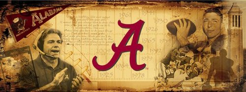 Alabama Crimson Tide Bama Vintage Sports Wall Mural Wallpaper