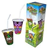 ズーパル プラスティックカップ&リッド&ストロー (カップ・フタ・ストローセット) 冷たい飲み物用 PCV-10026